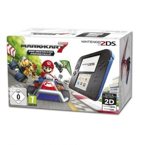 Consola Nintendo 2DS Azul + Mario Kart 7
