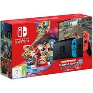 Consola Nintendo Switch Neon Blue/Red V2 + Mario Kart 8 Deluxe