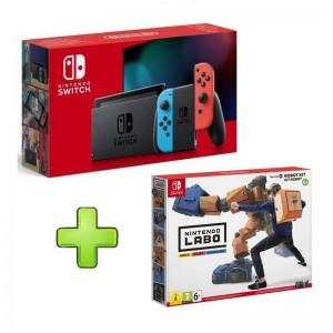 Consola Nintendo Switch V2 Neón Blue/Red + Nintendo Labo Robot Kit