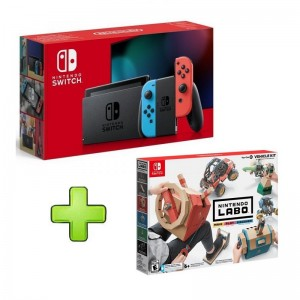 Consola Nintendo Switch V2 Neón Blue/Red + Nintendo Labo Kit de Veículos
