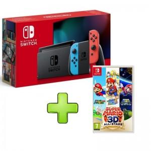 Consola Nintendo Switch V2 Neón Blue/Red + Oferta Super Mario 3D All Stars