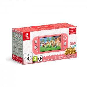 Consola Nintendo Switch Lite Coral + Animal Crossing: New Horizons
