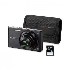 Sony Cyber-Shot DSC-W830B Black + SD 8GB + Bolsa