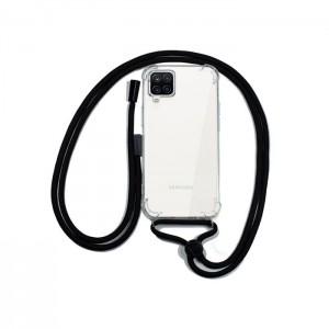Capa Transparente COOL para Samsung Galaxy A12 / M12 com Cabo Preto