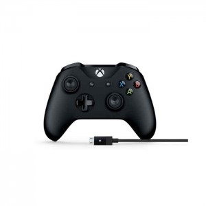 Microsoft Wireless Controller Black Xbox One Com Cabo