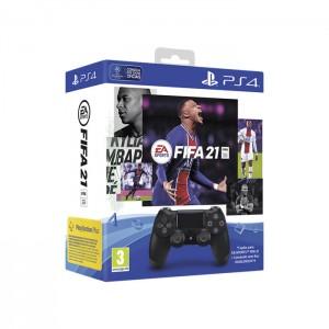 Comando PS4 DualShock 4 V2 Black + Cupão FIFA 21