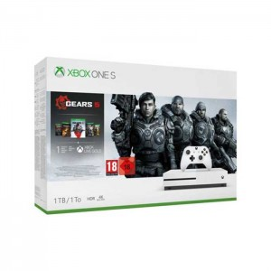 Consola Microsoft Xbox One S 1TB White + Gears of War 5