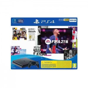 Consola Sony PlayStation 4 PS4 Black 500GB + FIFA 21