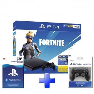 Consola Sony PS4 PlayStation 4 Slim 500GB + Fortnite Neo Versa Pack
