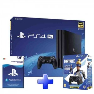 Consola Sony PlayStation 4 Pro 1TB +  DS4 Black Fortnite + PSN 50€