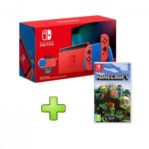 Consola Nintendo Switch Mario Red & Blue Edition + Minecraft