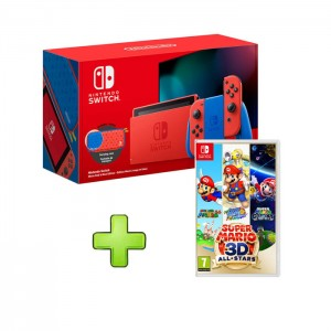 Consola Nintendo Switch Mario Red & Blue Edition + Super Mario 3D All-Stars