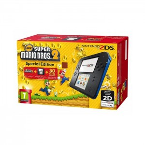 Consola Nintendo 2DS Blue/Black + New Super Mario Bros. 2
