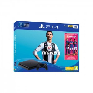 Consola Sony PlayStation 4 PS4 Slim 1TB + FIFA 19 Standard Edition