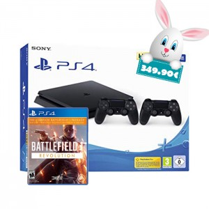 Consola Sony PS4 500 GB + Com 2 Comandos DualShock 4 Black + Battlefield Revolution
