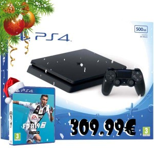Consola Sony PlayStation 4 PS4 Slim 500 GB + FIFA 19 + PSN 10 Euros