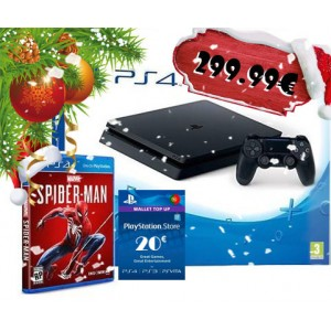 Consola Sony PlayStation 4 PS4 Slim 500GB + Spider-Man + PSN 20 Euros