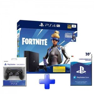 Consola Sony PlayStation 4 PS4 Pro 1TB + Fortnite + 2x DS4 + PSN 30€