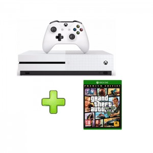 Consola Microsoft Xbox One S 1TB SEMI-NOVA + Grand Theft Auto V: Premium Edition
