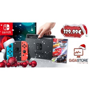 Consola Nintendo Switch Neon Blue/Red + Cars