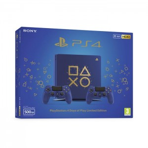 Consola PS4 Slim 500GB Blue + Dualshock 4 Extra – Edição Limitada Days of Play