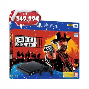 Consola Sony Playstation 4 Slim PS4 1TB + Jogo Red Dead Redemption 2