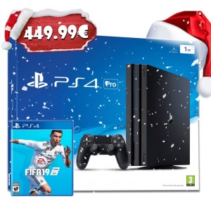Consola Sony PlayStation 4 PS4 Pro 1TB + FIFA 19 Standard Edition