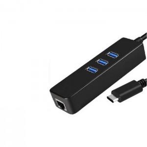 Adaptador USB C RJ-45 GIGABIT + 3P USB 3.0