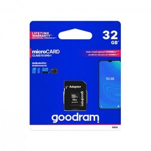 Micro SDHC 32GB Goodram Class 10 UHS-I + Adaptador SD