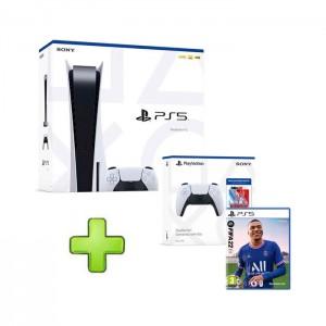 Consola Sony Playstation 5 PS5 825GB + FIFA 22 + Jumpstart Kit (Comando s/ fios DualSense + Voucher NBA 2K22)