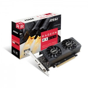 Placa Gráfica MSI Radeon RX550 4GB LP OC (PCI-E)
