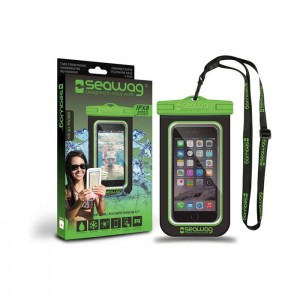 Bolsa Impermeável SEAWAG para Smartphone Preto / Verde