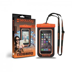 Bolsa Impermeável SEAWAG para Smartphone Preto / Laranja