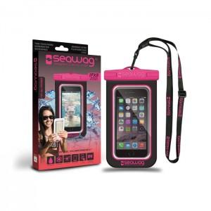 Bolsa Impermeável SEAWAG para Smartphone Preto / Rosa