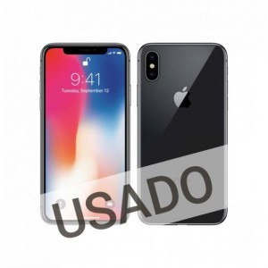 Apple iPhone X 64GB Space Grey (Grade B Usado) Bloq. Vodafone