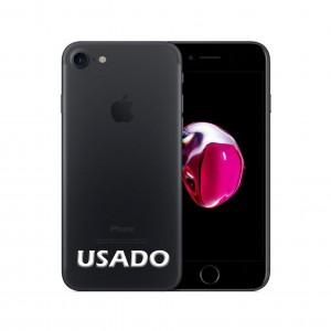 Smartphone Apple iPhone 7 128GB Black com capa e película USADO