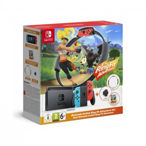 Consola Nintendo Switch Neón Blue/Red V2 + Ring Fit Adventure Pack
