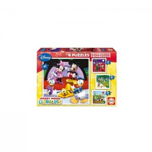 4 Puzzles Mickey Mouse Clube House