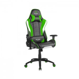 Cadeira Gaming Alpha Gamer Delta Black/White/Green