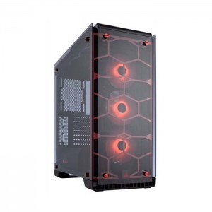 Caixa ATX Corsair Crystal 570X RGB Red