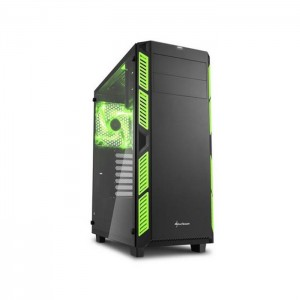 Caixa ATX Sharkoon AI7000 Glass Black/Green