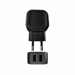 Carregador Evelatus Travel Charger ETC03 Black/Branco