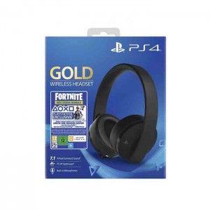 Sony Headset Gaming Wireless Gold + Voucher Fortnite PS4