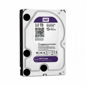 Disco Rígido Western Digital 3TB 3.5 Purple 5400rpm SATA III 64MB