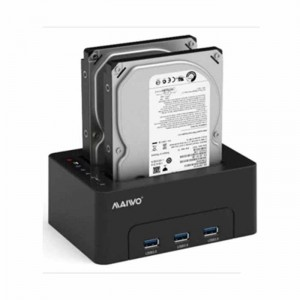 "Docking Station para HDD SATA 2.5"" 3.5"" com 3 portas USB 3.1"