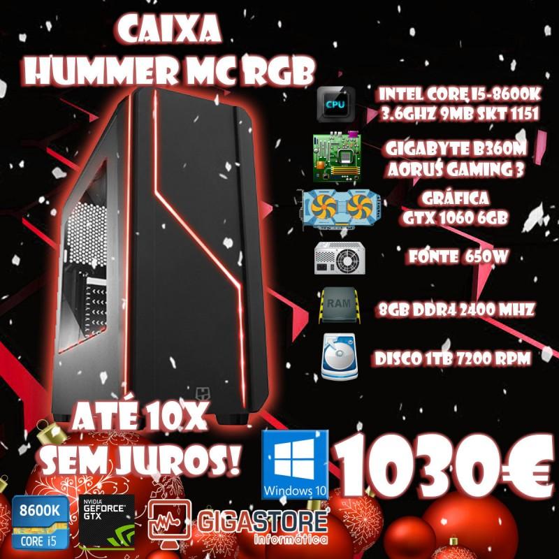 Gigastore Gamer Intel I5 8600k 8ª Geração Nvidia 1060 6GB