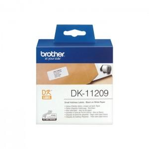 Rolo de Etiquetas Pré-cortadas Brother DK-11209 para Impressora