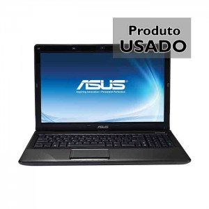 "Portátil Asus K52JE Core i3 M370 2.40Ghz Ram 4GB Disco HDD 500GB Ecrã 15.6"" Webcam Usado"