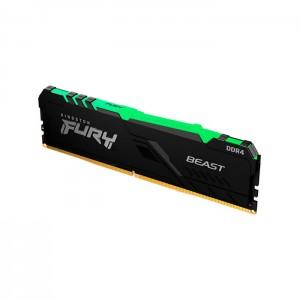 Memória RAM Kingston Fury Beast RGB 16GB (1x16GB) DDR4-3200MHz 1R CL16