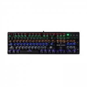 Teclado Mars Gaming MK4 Mechanical Illuminated RGB Flow Switch Brown/Blue/Red